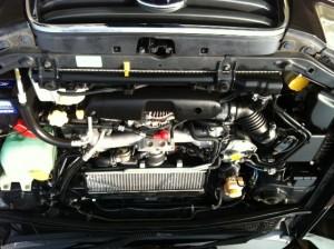 国産車スバルフォレスターのエンジンクリーニング